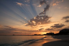 Sunburst over Grace Bay photo by Rob Shenk