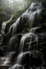 Sylvia Falls in Fog photo by Daniel Willans