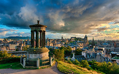 Stormy Calton Hill, Edinburgh (Remixed) photo by smithat