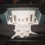 Set model by Scenic Designer Courtney O'Neill at the first rehearsal for JULIUS CAESAR at Writers Theatre. Photo by Joe Mazza—brave lux.