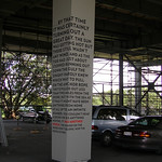 Auckland Harbour Bridge support pillar