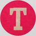 Vintage Sticker Letter T