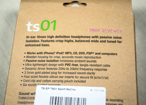 Features of thinksound ts01 headphones