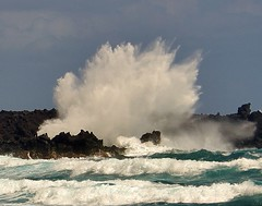 And the waves come in    (Big Island of Hawaii) photo by o-rusty-nail