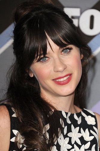 Zooey Deschanel's bangs are fast becoming iconic