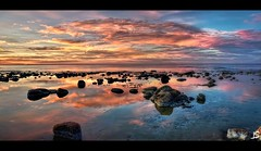 At the beach -  panorama photo by Jeff S. PhotoArt