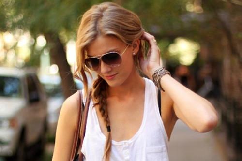 street style hair side braid