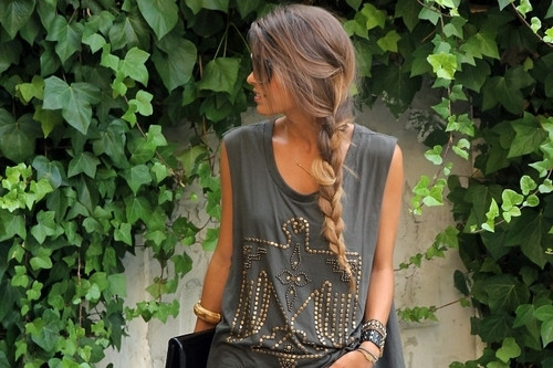 street style hair loose braid