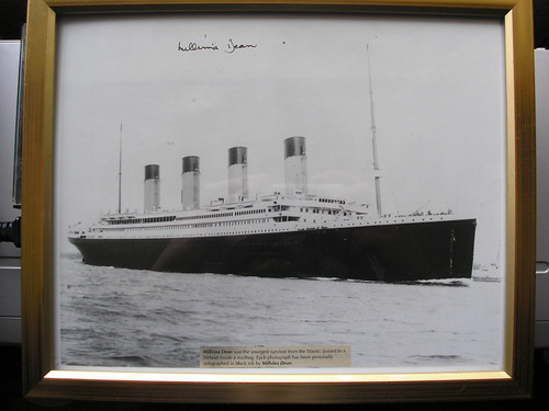 Signed Photo by Millvina Dean. Youngest Survivor of The Titanic Disaster.