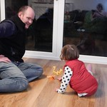 Dad playing with Amy<br/>13 Apr 2013