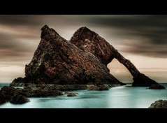 Bow Fiddle Rock. Portknockie. Aberdeenshire. photo by PeskyMesky