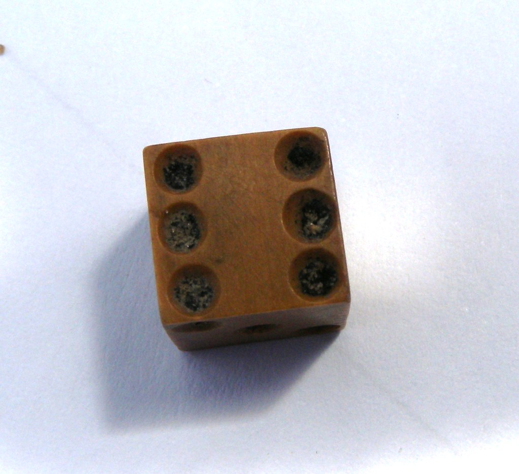 Bone dice found by Steph