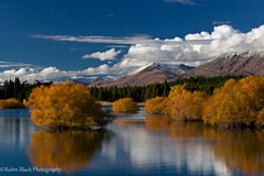Lake Tekapo Fall Color Reflection photo by Robin Black Photography