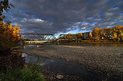 Old CPR Bridge - Red Deer photo by Len Langevin