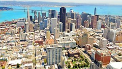 San Francisco skyline from helicopter photo by Isabella C. Soniak