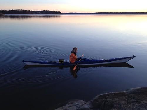 Paddling upp till Hässelby strand