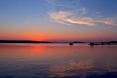 Sunset at the lake Vesijärvi photo by L.Lahtinen