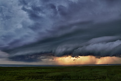 HDR of a dying Mesocyclone photo by Steve Maciejewski