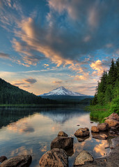 Trillium Lake HDR photo by JeremyConk