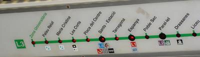 Recorrido línea metro