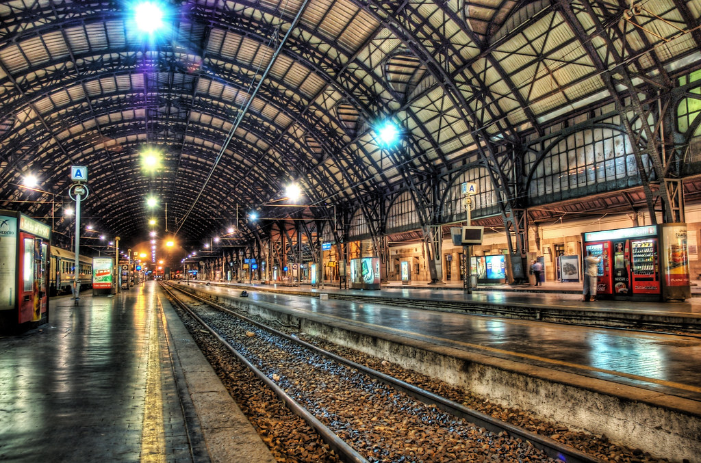 Milan Train Station at Midnight