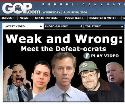 GOP puts Hitler mustache on Howard Dean