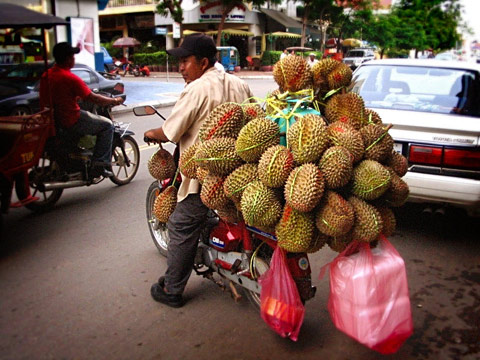 Mobile Durian in Phnom Penh, Cambodia