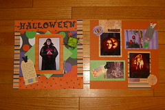 Halloween 2003, scrapbook spread