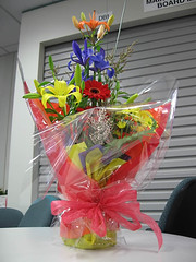 Flowers from the team