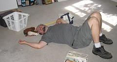 8/17/06: Josef takes a nap.