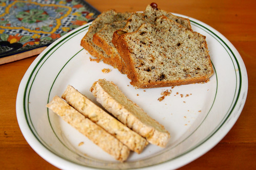 ginger biscotti and banana bread