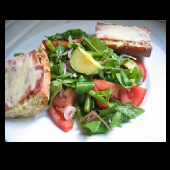 Not Mine - ham cheese mixed salad