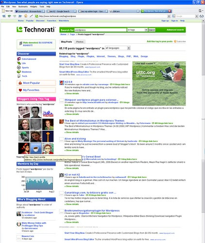 Zeo profile on Technorati