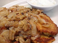 Potato Latkes With Sour Cream