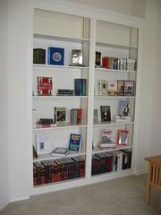 Bald bookshelf