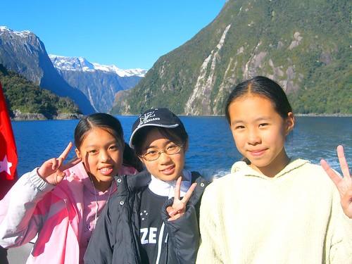 Milford Sound美女三人組