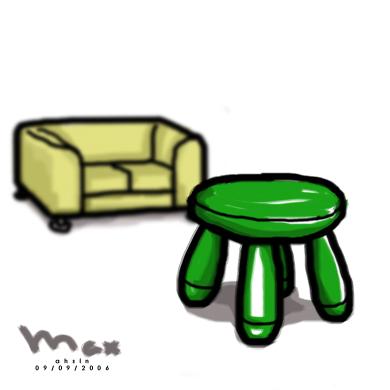 sofa &  stool