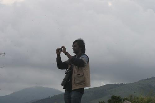 IMG_0394 Yathin shooting a Hyderabad couple who had come along with us on safari