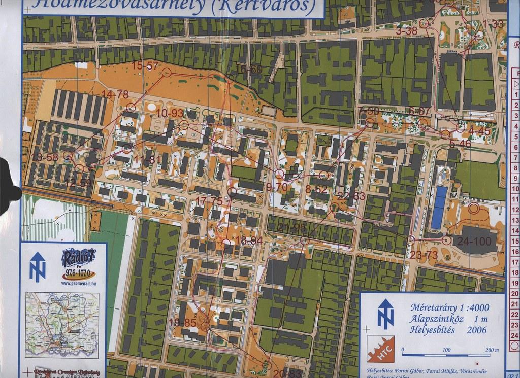 Rövidtávú OB 2006 - Selejtező térkép - Hódmezővásárhely