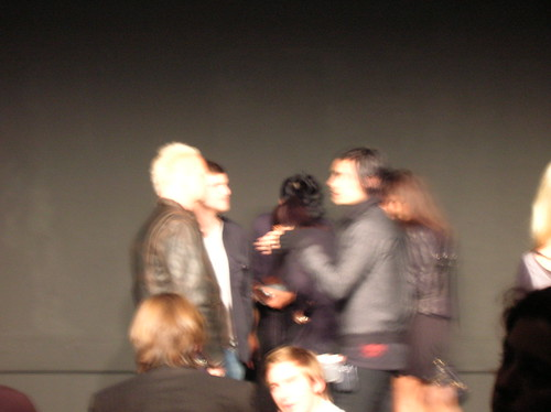 very blurry jared leto - cloak runway show