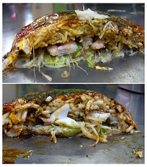 noodle in the okonomiyaki is hiroshima style photo by anzyAprico