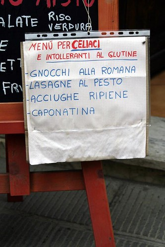 Celiac Menu, Vernazza
