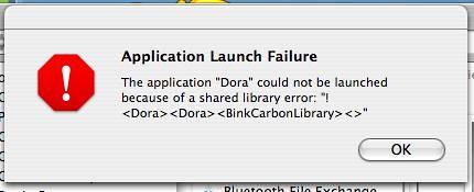 Dora Mac Error