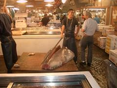 En el mercado de pescado de Tokio