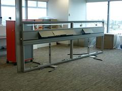 Empty desk shell