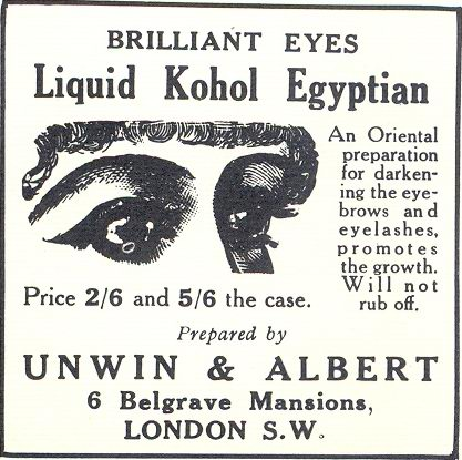 Brilliant Eyes Liquid Kohol Egyptian ad, 1916