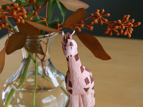 giraffe at my table