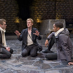 Guildenstern (Billy Fenderson), Hamlet (Scott Parkinson) and Rosencrantz (Julian Parker) in HAMLET at Writers' Theatre. Photo by Michael Brosilow.