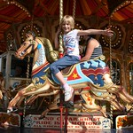 Emma on the horses<br/>15 Sep 2012