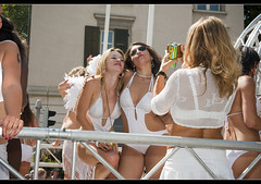 Promotional Models in Zurich Street Parade 2012.No.5626. photo by Izakigur